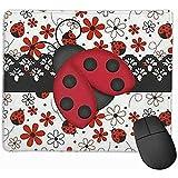 Gaming-Mauspad, rutschfeste Mausunterlage aus rotem Skarabäus mit angenähtem Rand, für Computer, Laptop 25 x 30 cm