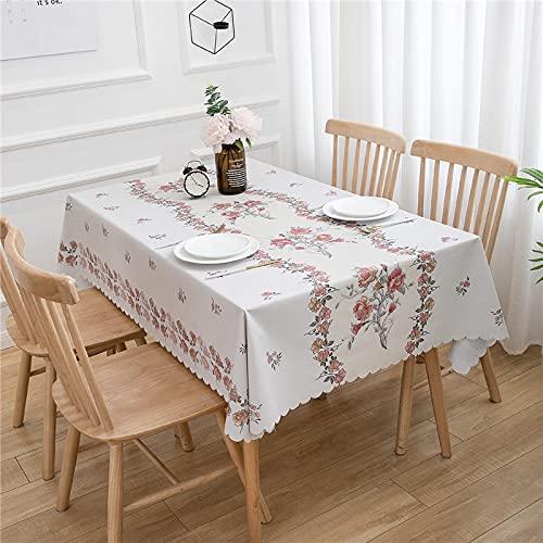 CYYyang Transpirable, Aislamiento Térmico, Restaurante,Cocina, Cafetería, Mantel de Jardín Mantel Simple del Hotel del Estilo Pastoral de la impresión del PVC