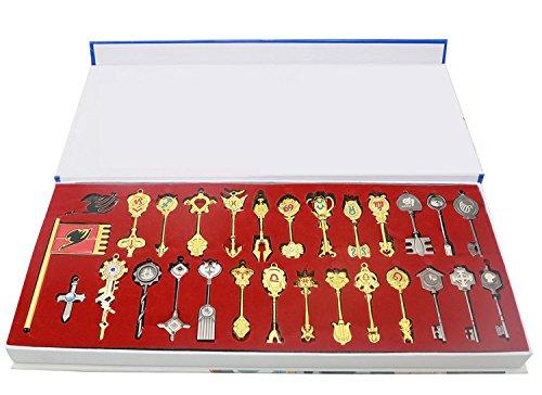 Xcoser Cosplay Kostüm Schlüsselanhänger Key Ring Lucy Halskette Anime Legierung Kette Pendant Zubehör für Gift Box Kollektion