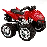 FDS Goplus 4D ATV RC Motorrad Ferngesteuertes Motorrad Racing Bike Kinder Spielzeug Fernbedienung Motorcycle Rennmaschine (Rot)