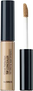 [the SAEM] Cover Perfection Tip Concealer SPF28 PA++ 6.5g #2 Rich Beige- High Adherence Concealer without Clumping and Cra...