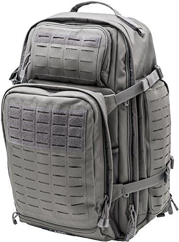 LA Police Gear Atlas 72H MOLLE Tactical Backpack for Hiking, Rucksack, Bug Out, or Hunting-Grey
