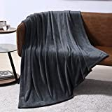 EXQ Home Fleece Blanket Charcoal Grey Throw Blanket for Couch or Bed - Microfiber Fuzzy Flannel Blanket for Adults or Kids