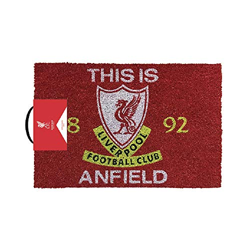 Liverpool Football Club Official Anfield Door Mat Non Slip Outdoor Indoor Crest