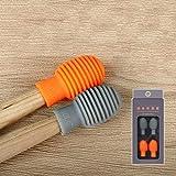 amortiguador tambor,silencio tambor,accesorio de baquetas de silicona,accesorio de percusión,silicona accesorio de percusión (Naranja y gris)