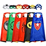 Easony Birthday Presents Gifts for 3-10 Year Old Boys, Cartoon Super Hero Satin Capes Dress up for...