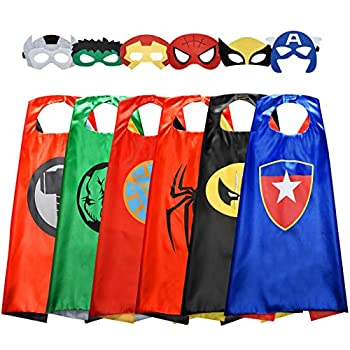 Easony Birthday Presents Gifts for 3-10 Year Old Boys Cartoon Super Hero Satin Capes Dress up for Kids Party Favor Toys for 3-10 Year Old Boys