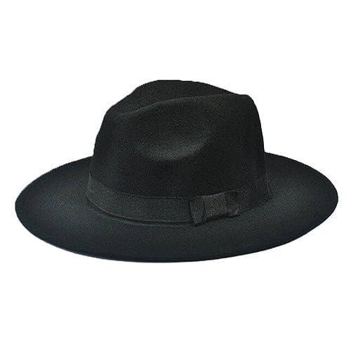 ee669ad734abd Nikgic 1pc Otoño e Invierno Hombres y Mujeres Straight Edge Jazz Hat  Sombrero Grande de ala