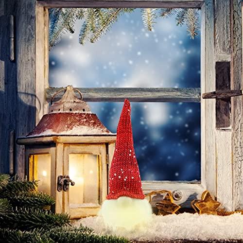 Younoo1 - Muñeca de Gnomos luminosos de Navidad – Decoración de Navidad de peluche sin rostro,...