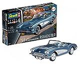 Revell Revell-1958 Maqueta 1958 Corvette Roadster, Kit Modelo, Escala 1:25 (7037)(07037), 17,8 cm de Largo