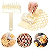 Make lattice pastries easily: Come with 2 pieces kitchen bakery tools. The hole puncher and roller cutter are 7.8*4.72 inches respectively. A long enough needle can avoid the air pockets formation well and the roller cutter can make nice and neat pat...