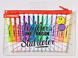 Highlighter - STABILO swing cool 14pc with Pencil Case