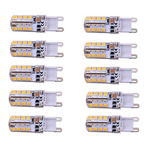 WELSUN LED Light G9 / E14 Ampoule À Maïs 32LED SMD2835 200-240LM Blanc/Blanc Décoratif AC220-240V 10PCS-Pack (Color : G9 Cool White)