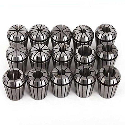 SHINA 16 tlg. ER25 Spannzangen Set Hochklemmkraft zum Bohren Tapping 16 Stück 1-16mm
