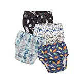 Baby Boys' Waterproof Pants,Soft and Quiet - Plastic Pants for Toddlers,2-5T,Covers for Training Pants (4T)