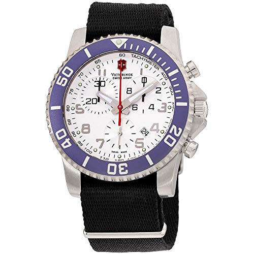 Victorinox Swiss Army Men's 241051 Maverick II Chronograph White Dial Watch