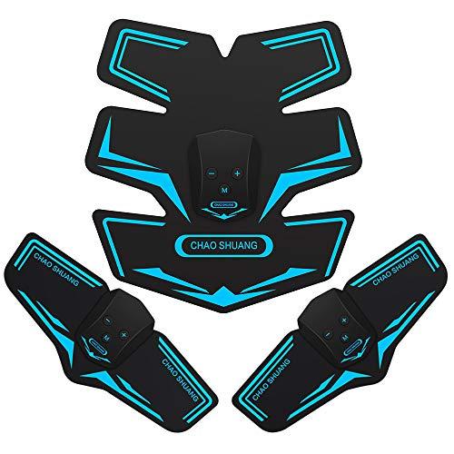 LIOMO Bauchmuskeltrainer EMS Trainingsgerät Elektrostimulation Fitness Geräte USB Muskelstimulationer für Herren und Damen