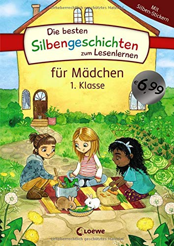 Die besten Silbengeschichten zum Lesenlernen für Mädchen 1. Klasse: Erstlesebuch mit farbiger Silbentrennung für Grundschüler ab 6 Jahre