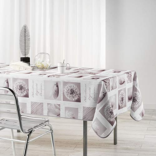 Arte Provenzale TOVAGLIA ANTIMACCHIA Dis.CLARTE Blanc Rettangolare, per Sala da Pranzo e Cucina (300_x_150_cm)