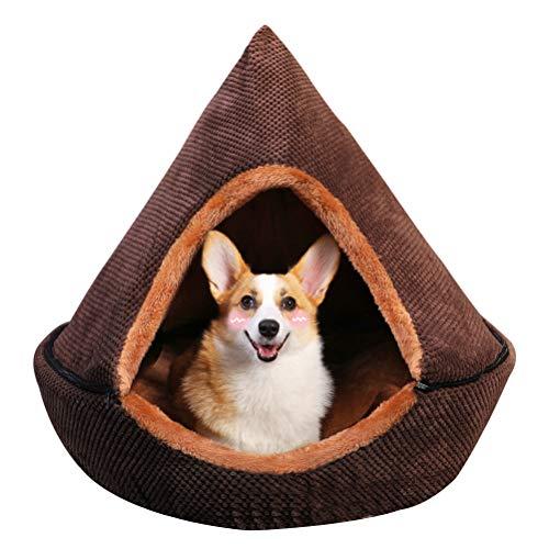 犬 RTT Enclosed Dog Cave Bed Removable and Washable Yurt for Small and Medium-sized Dogs Teddy and Cats Indoor Cat House-type Tent Pet Supplies Four Seasons 1015(Size:S)