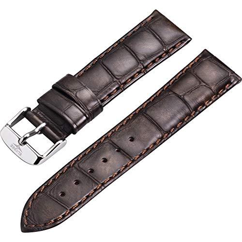 Elysee Uhrenarmband - Hochwertiges Lederarmband in Kroko-Optik mit Dornschließe - 20mm