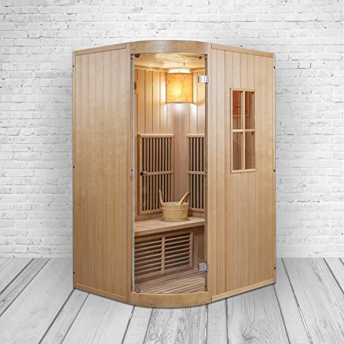 XXL Luxus LED Infrarotsauna +Infrarotkabine Kombi SET Sauna inkl. Saunaofen inkl. Lieferung mit Spedition
