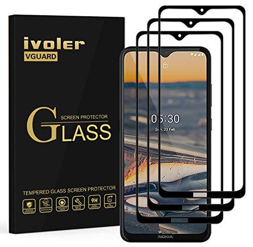ivoler 3 Stücke Panzerglas Schutzfolie für Nokia 5.3, [Volle Bedeckung] Panzerglasfolie Folie Hartglas Gehärtetem Glas BildschirmPanzerglas für Nokia 5.3