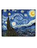 DECORARTS Starry Night by Vincent Van Gogh The Classic Arts Reproduction, Art Giclee Print on Canvas, Stretched Gallery Wrapped, 30' L X 24' W