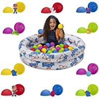 Blippi Ball Pit Mystery Adventure, Featuring Portable Indoor / Outdoor Inflatable Ball Pit, 35 Plastic Balls, 10 Surprise Balls with 10 Accessories