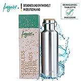 freigeist Edelstahl Trinkflasche/Thermosflasche 750 ml | Isolier-Flasche, Doppelwandig, BPA frei, Auslaufsicher & Kohlensäure