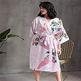 Handaxian Albornoz de Verano Kimono Albornoz Pijamas Femeninos Dama de Honor Informal Vestido de Novia Pijamas