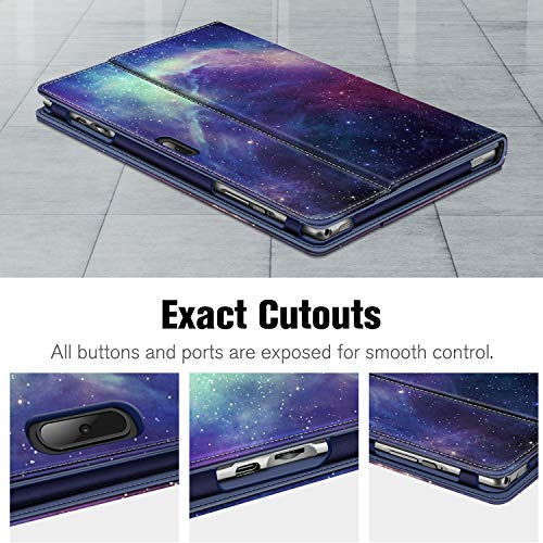 Fintie Hülle für Vankyo S10 / AOYODKG A38 10 Zoll - Multi-Winkel Flip Betrachtung Kunstleder Schutzhülle mit Dokumentschlitze für Vankyo MatrixPad S10 / AOYODKG A38 Tablet, Die Galaxie