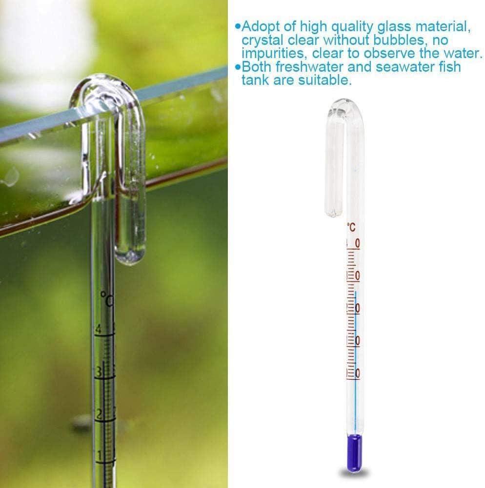 Aquariums U Shape Hanging Glass Thermometer High Precise Temperature Measurment Zerodis Fish Tank Thermometer