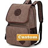 Nombre Personalizado Lady Lightweight Viole Backpack Viajes Business Casual Unisex School Bag (Color : Kafeise, Size : One Size)