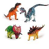 HKJCstore 4PCS Children Assembled Deformation Dinosaur Egg boy Toy Pentaceratops Dinosaur Egg
