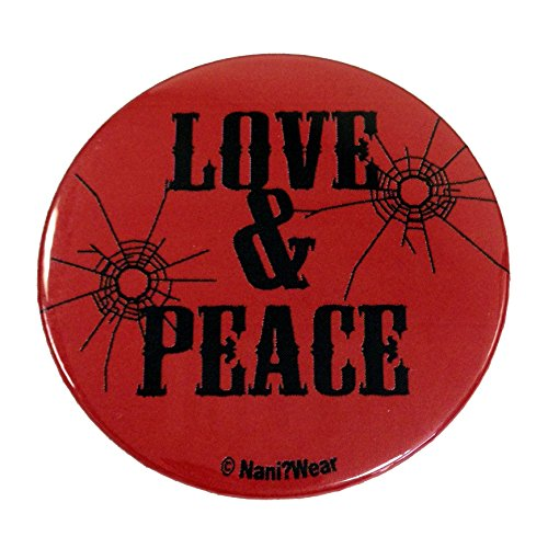 NaniWear Trigun 2.25 Inch Anime Button Love & Peace