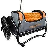 MVP Disc Sports Rover Cart + Orange Nucleus Disc Golf Bag