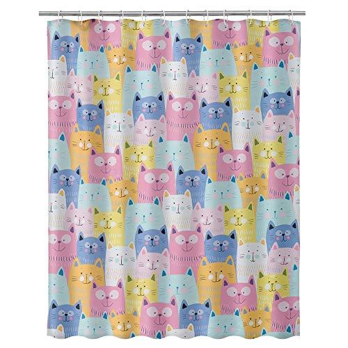 Duschvorhang Bad Katzen Polyester