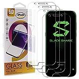 Guran 4 Paquete Cristal Templado Protector de Pantalla para Xiaomi Black Shark Smartphone 9H Dureza Anti-Ara?azos Alta Definicion Transparente Película
