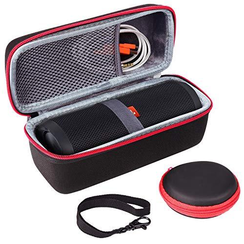 Tasche Hülle für JBL FLIP 5 4 3, SKYNEW Hart Schutzhülle für JBL Flip 5 Bluetooth Box tragbarer Lautsprecher and Zubehör, JBL Tasche mit Kopfhörer Taschel