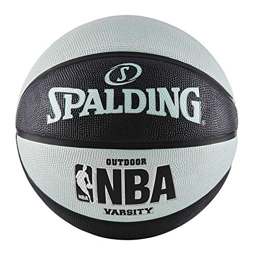 "Spalding NBA Varsity Outdoor Rubber Basketball - Black/Blue - Official Size 7 (29.5"")"