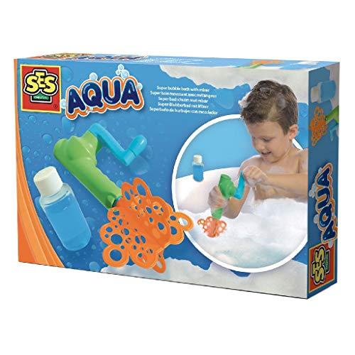 SES-Creative- Aqua Super Bolle nel Bagno con Agitatore, Colore, 13066