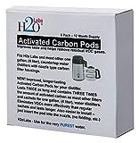 Mega cápsulas de filtro de carbón activado para destiladores de agua (suministro de año completo). Más carbón activado y mejor eliminación de compuestos orgánicos volátiles que otras marcas.