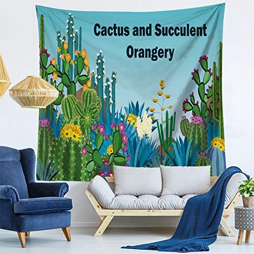 KHKJ Envío de la Gota Cactus Acuarela Tapices de Pared Colgantes Mapa del Mundo Flamingo Tapiz Paisaje Papel Tapiz Arte de la Pared Chal Throw A5 200x150cm
