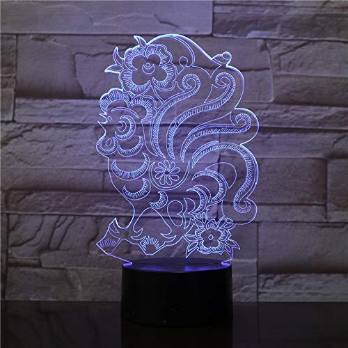 Bunte Rosenvase der Wohnzimmerdekoration machte Nachtlichttabellenlampen-Nachtschlaf-Beleuchtungsgeschenk eingemacht