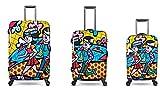 Valigia, Set di Valigie e Valigeria per bambini - PREMIUM DESIGNER - Set 3 pezzi - Heys Artista Britto Spring Love Bagaglio a Mano + Trolley con 4 Ruote Media + Trolley con 4 Ruote Grande