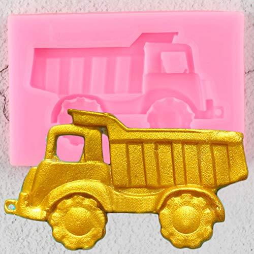 UNIYA Moldes de Silicona para Coche de camión 3D,Herramientas de decoración de Pasteles de cumpleaños, Molde de Fondant para Cupcakes,moldes deChocolate y Arcilla de Caramelo