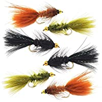 Woolly Bugger Trout Fly Fishing Streamer Assortment (Assortment - Size #10)