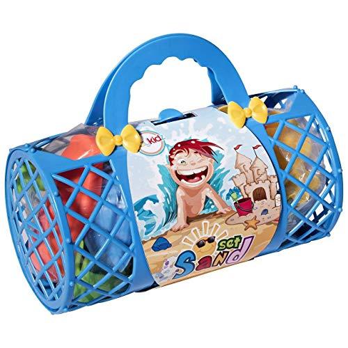Juguetes de Playa Mega Paquete de Juegos a Granel en la Playa y en la Caja de Arena con exclusivos moldes de Arena para cangrejos, Conchas y mar, Palas, rastrillos, Bolsas de Color Rosa o Azul