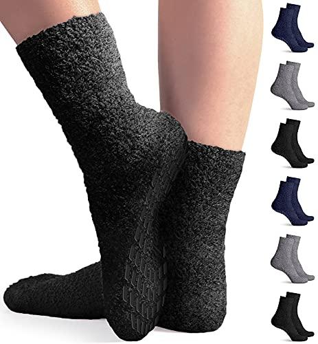 Pembrook Non Skid / Slip Socks – Hospital Socks - Fuzzy Slipper Gripper Socks
